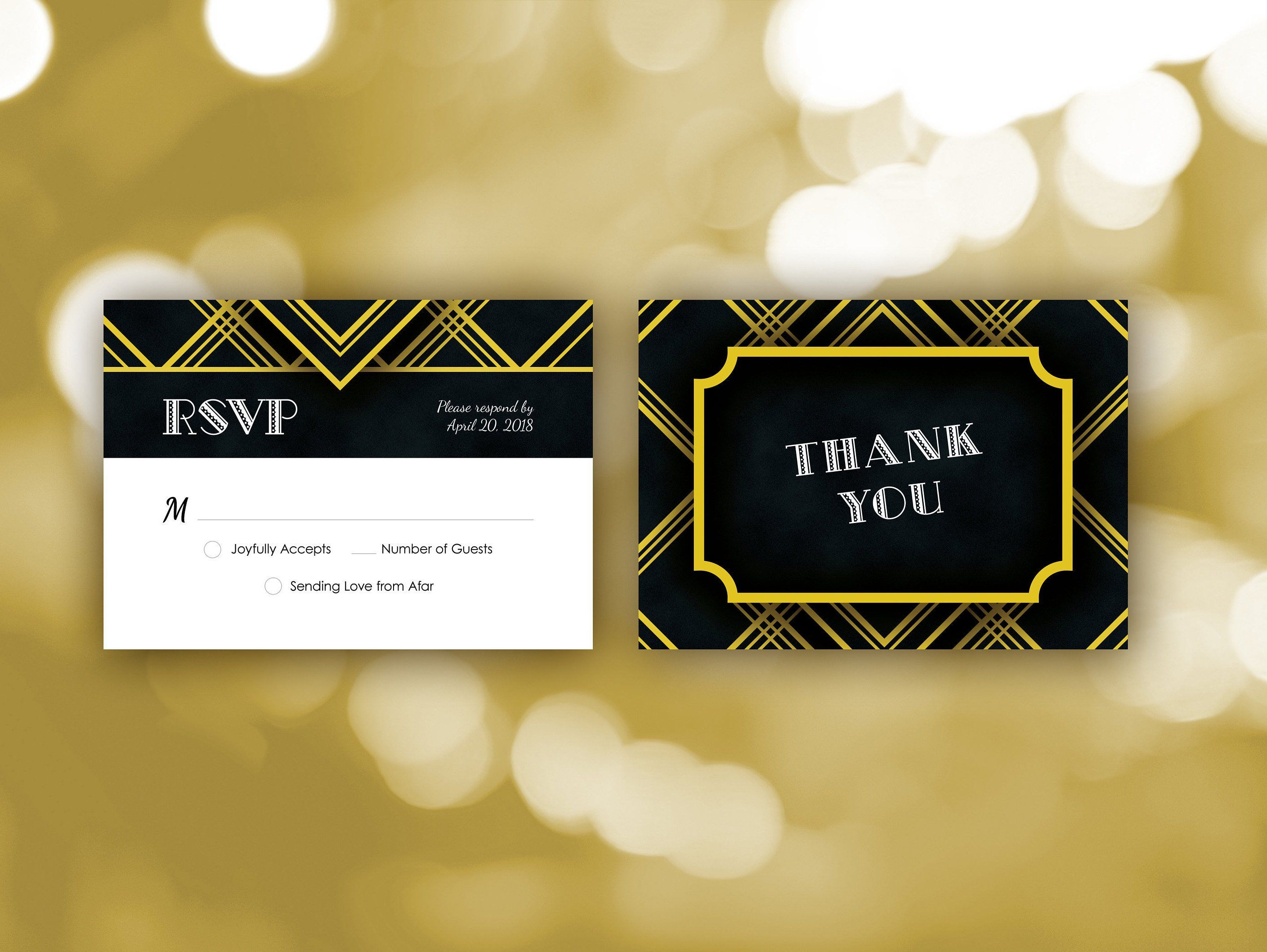 The Great Gatsby Wedding Invitation Template Printable Roaring 20s
