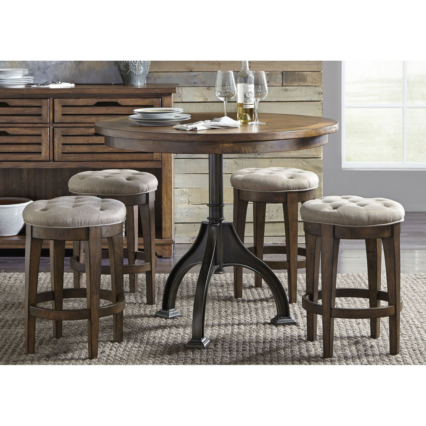 Prime Liberty Furniture Industries Arlington House 5 Piece Counter Caraccident5 Cool Chair Designs And Ideas Caraccident5Info