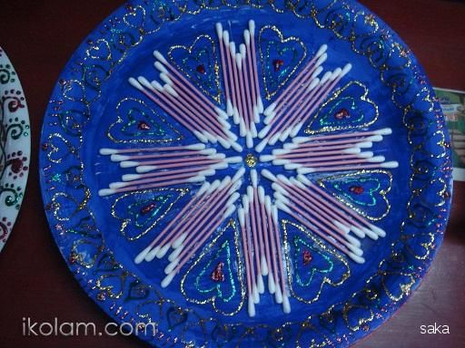 Photos aarthi plates aarthi plates for Aarti dish decoration