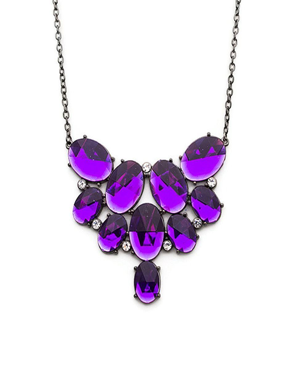 Purple Crystal Fiesta Necklace