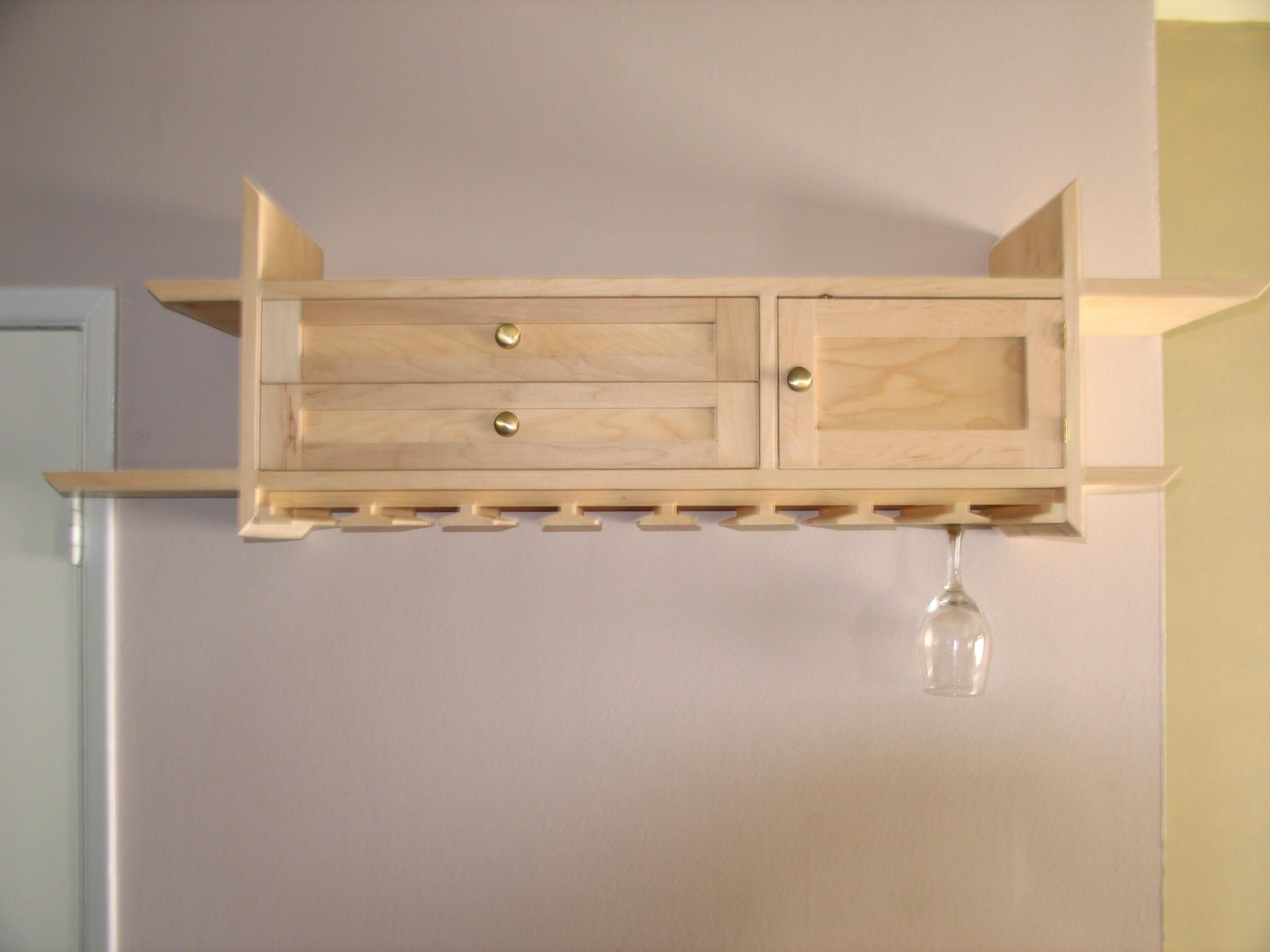 Picture Of Wall Mounted Wine Glass Holder