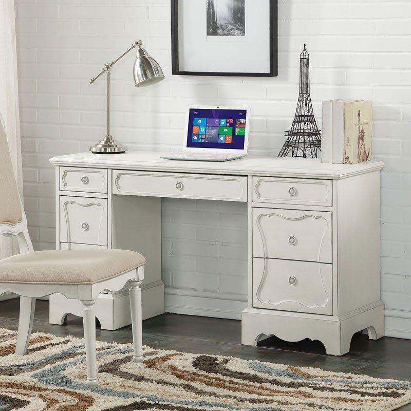 Morre Desk White Kids Desk Antique White Desk Acme Furniture