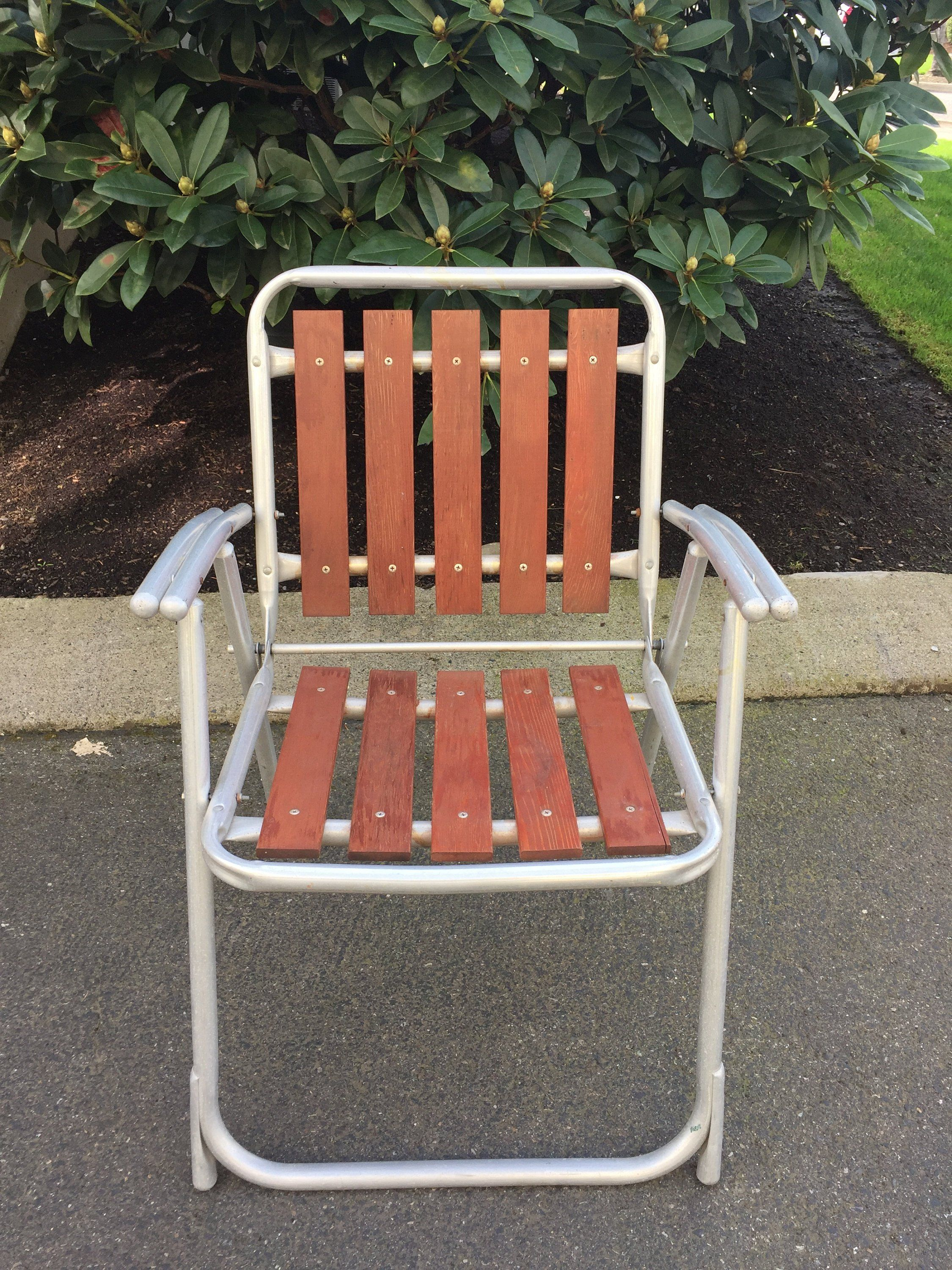 Brilliant Vintage Lawn Chair Aluminum Wood Lawn Chair Patio Lawn Ibusinesslaw Wood Chair Design Ideas Ibusinesslaworg