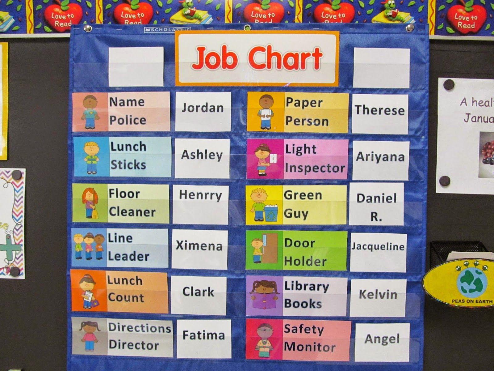 25 flexible fun and free classroom job chart ideas classroom