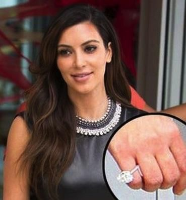 Picture Of Kim Kardashian Engagement Ring To Kanye 29 Engagement