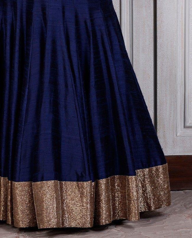 a691a1e4ce Navy Blue Raw Silk Lehenga - Couture - Shop Women   chaniya choli ...