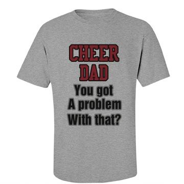 Cheer Dad Bold Tee (With images) Cheer dad shirts, Cheer