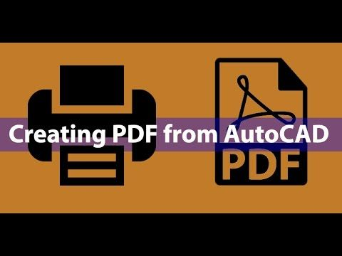 How To Print Autocad Drawing To Pdf Youtube Autocad Autocad