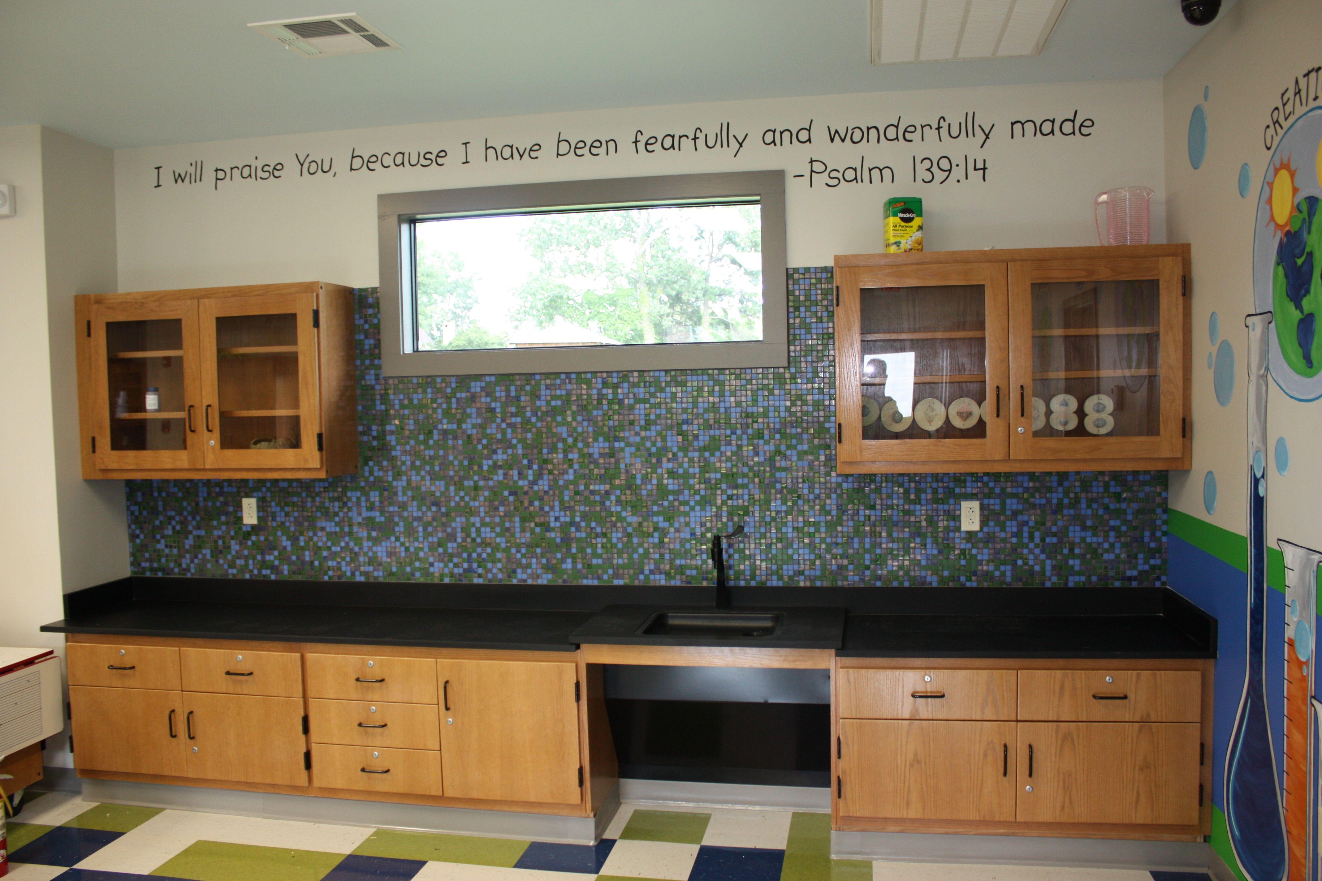 Check Out The Tile Backsplash First Presbyterian Day School