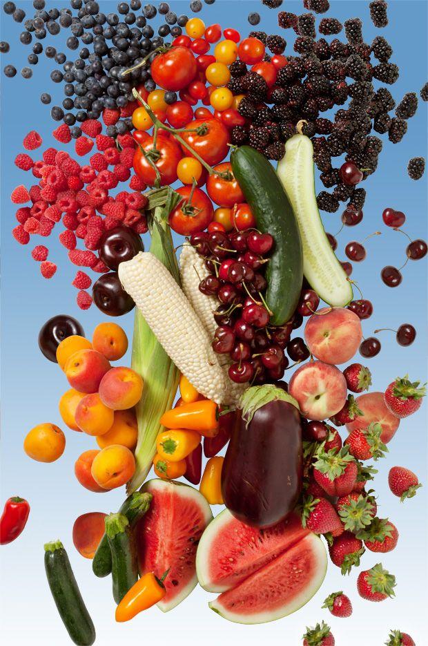 L'été, c'est le moment où jamais pour faire le plein de vitamine. On clique sur un fruit ou un légume et une multitude de recettes apparaîssent.