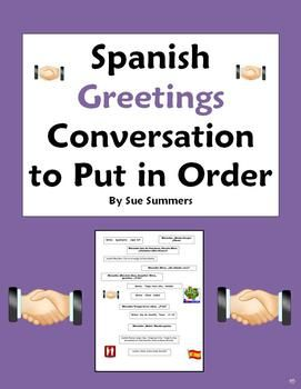 Spanish greetings conversation to put in order greetings skit spanish greetings conversation to put in order greetings skit by sue summers this is a 13 line 3 person conversation m4hsunfo
