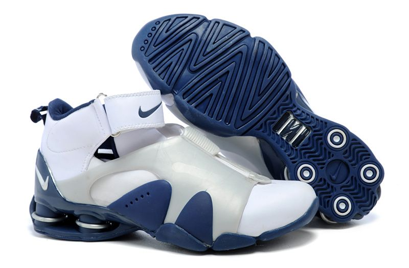 Nike Shox Vince Carter Basketball Shoes white Silver blue-$120.89