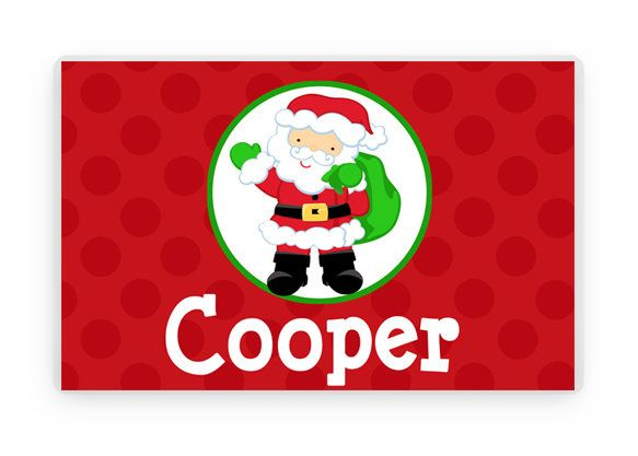 Personalized Santa Christmas Placemat, Laminated Placemat ...