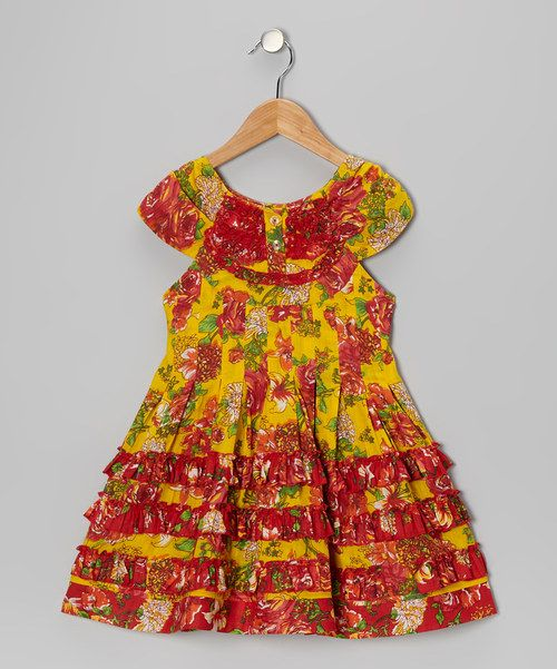 Take a look at the Yo Baby Yellow Ruffle Swing Dress - Toddler & Girls on #zulily today!