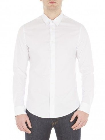 Slim fit Regular Collar long sleeve Cotton & Elastane Material Ben Sherman Men's Long Sleeve Stretch Poplin Shirt.