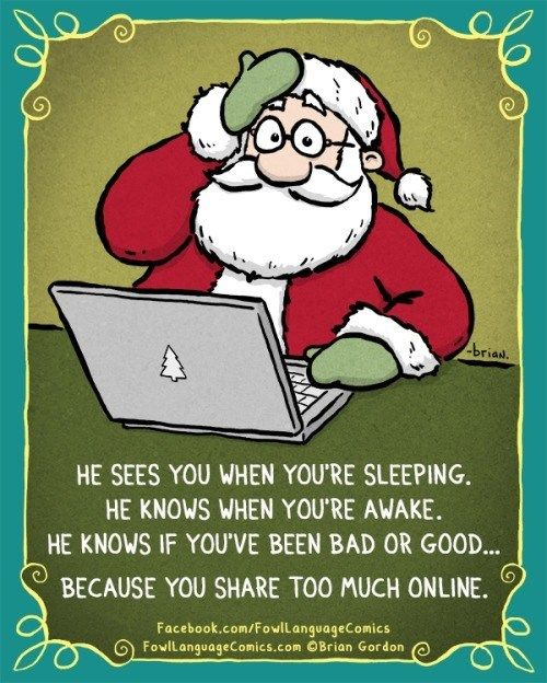 Santa knows when you've been oversharing | Fowl Language Comics