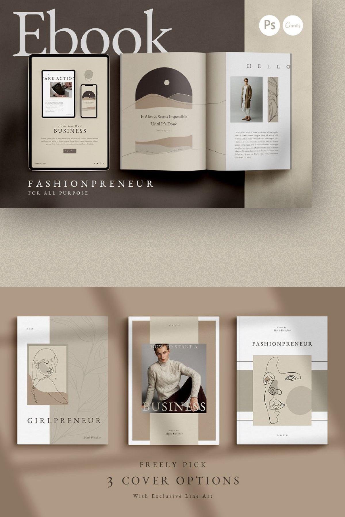 Ebook Fashionpreneur Coach Canva Ebook Design Ebook Template Magazine Layout Design