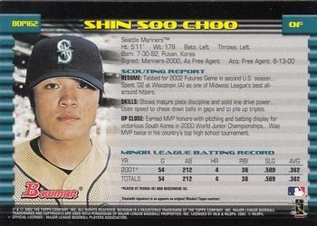 2002 Bowman Draft Picks Prospects Bdp162 Shin Soo Choo