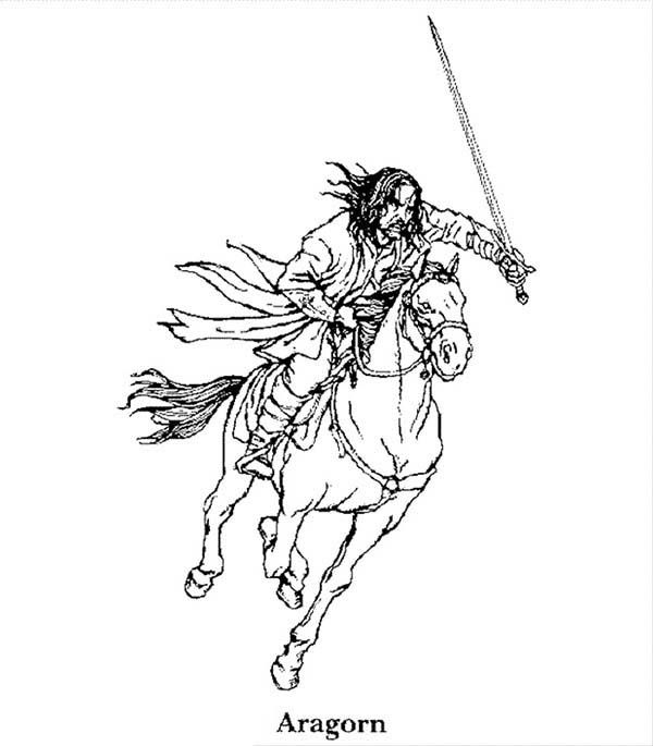 aragorn coloring pages | Aragorn | LOTR teaching English