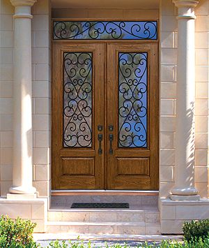 Beautiful Double Entry Door With Transom