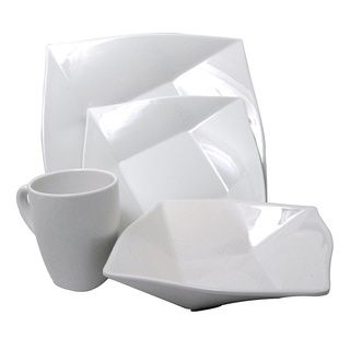 White Melamine 4-piece Square Dinnerware Set  sc 1 st  Pinterest & White Melamine 4-piece Square Dinnerware Set | Cran | Pinterest ...