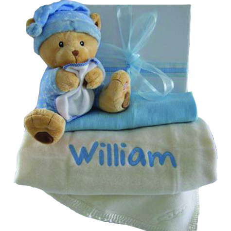 my own luxury lullaby personalised baby blanket gift hamper