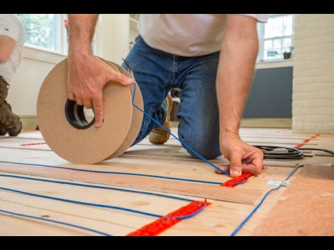 How To Install A Heated Floor Thermostat Radiant Floor Heating Floor Heating Systems Heated Floors