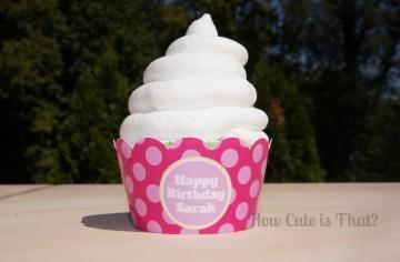 Custom Pink Polka Dot Cupcake Wrappers How Cute is That?