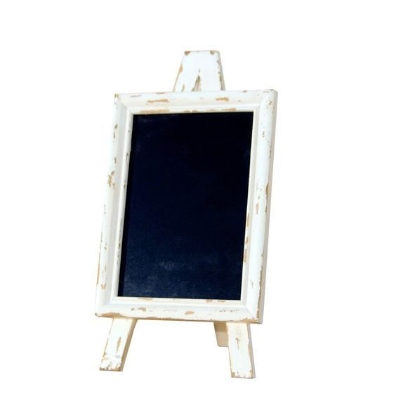Framed Easel Chalkboard in Distressed White in 2018 | wedding ...