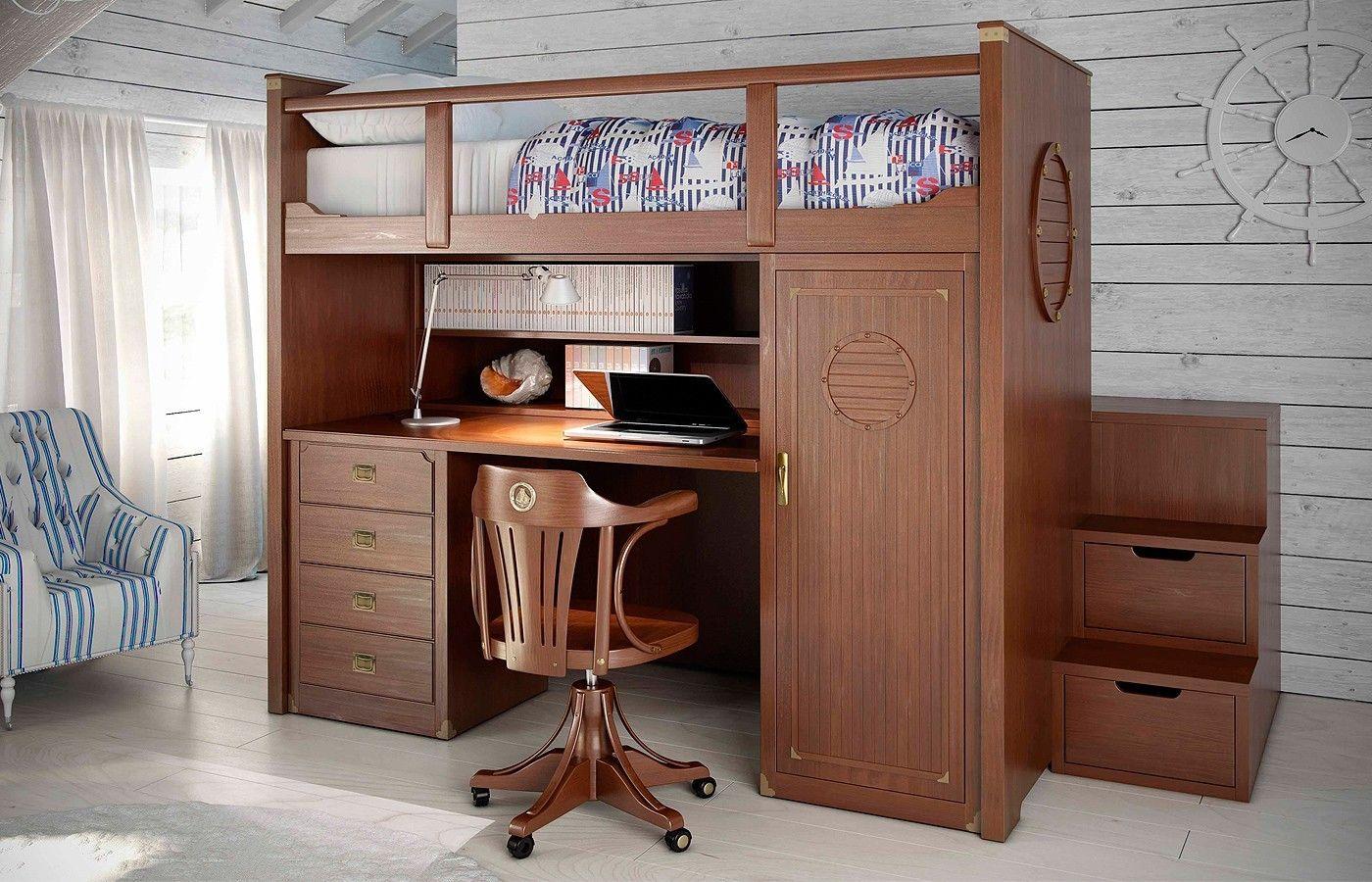 Litera escritorio camarote de madera y algo mas litera con escritorio escritorios y - Literas con escritorio debajo ...