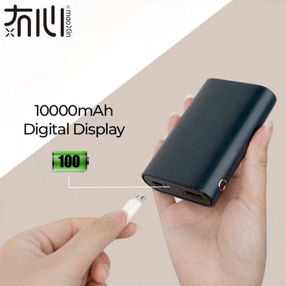 Maoxin original digital display power bank 10000mAh mini portable micro type c dual input one usb output black phone accessories  Price: 23.00 & FREE Shipping  #hashtag4