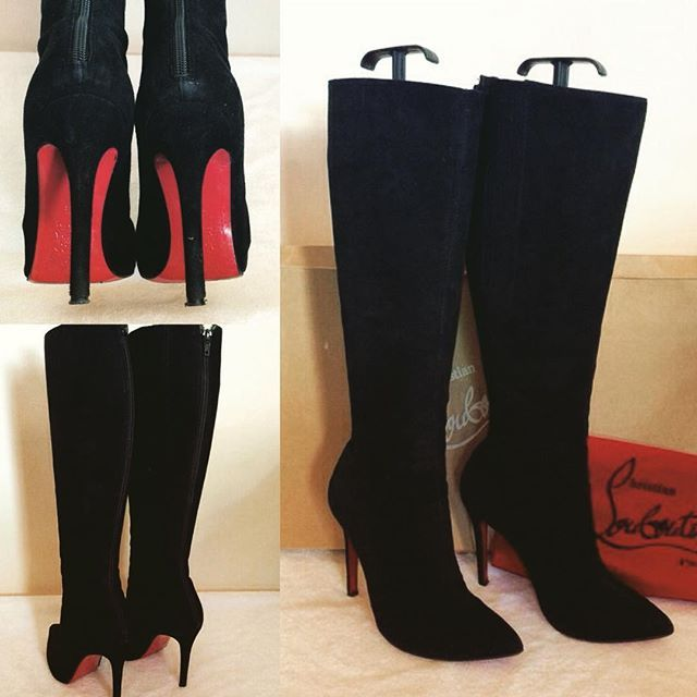5270f3663 Just in today... CHRISTIAN LOUBOUTIN BLACK SUEDE 'PRETTY WOMAN' KNEE ...