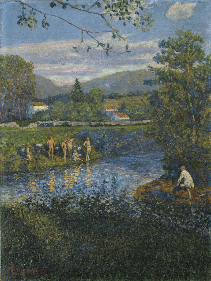 El baño en Rentería, 1900