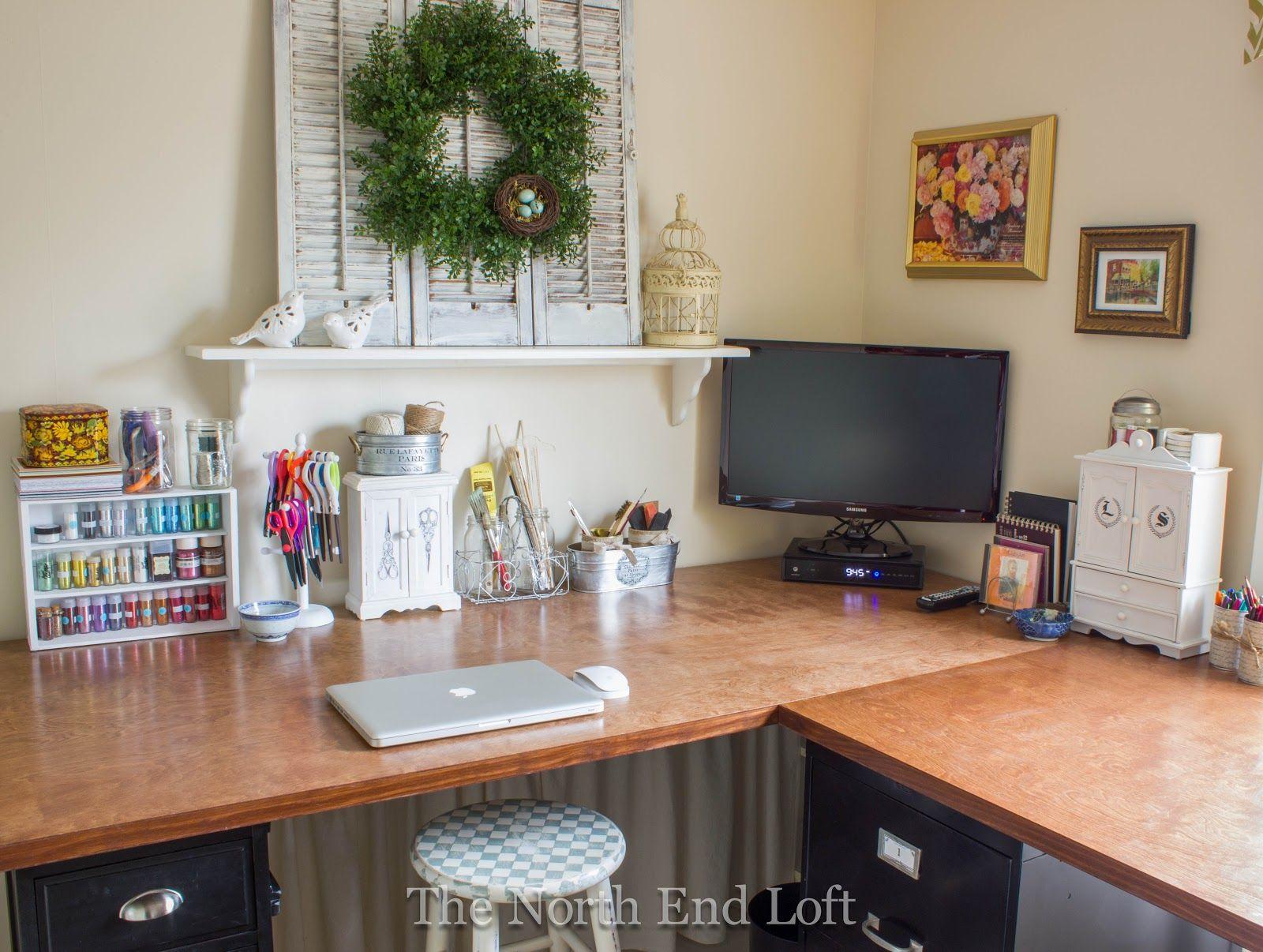 My New Craft Room Craft Room Craft Room Office File Cabinet Desk