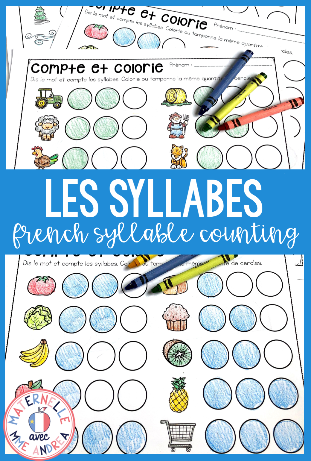 French Syllable Counting Worksheets Syllable Worksheet Literacy Activities Kindergarten Syllables Kindergarten [ 1540 x 1040 Pixel ]