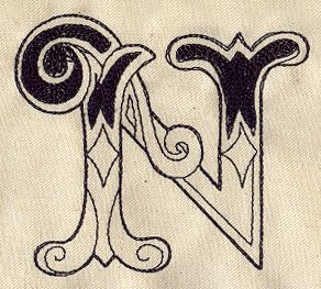 Cirque Letter N Design Ut3679 From Urbanthreads Com Prints