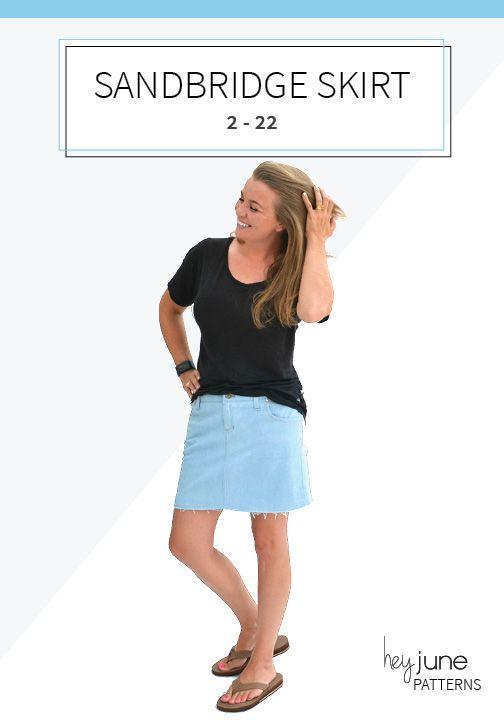 The Sandbridge Skirt by Hey June Handmade | Schnittmuster | Röcke ...