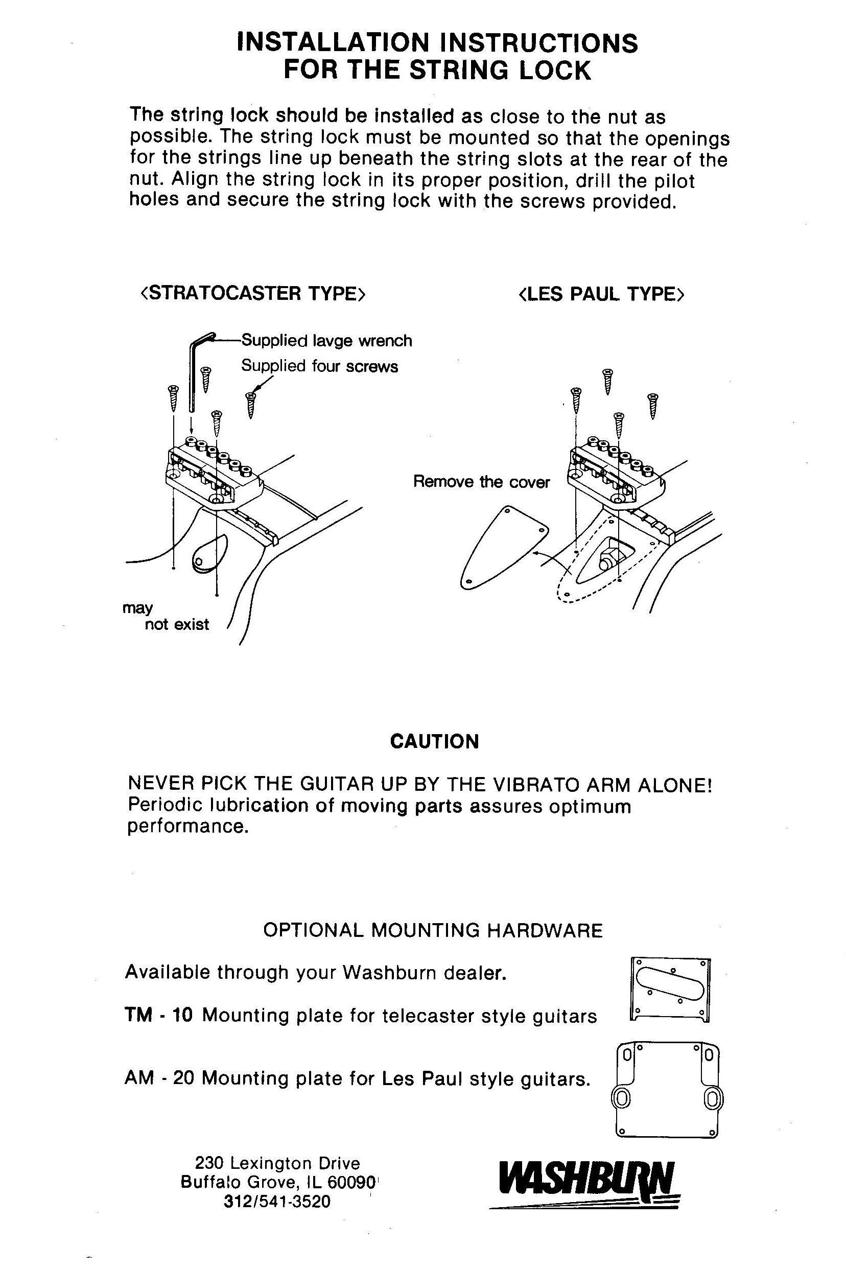 washburn wonderbar install instructions page 3 inspiration guitar vintage art. Black Bedroom Furniture Sets. Home Design Ideas
