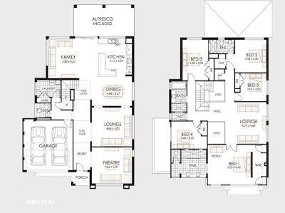 Planos de casas de dos pisos planos de casa de dos pisos for Niveles en planos arquitectonicos