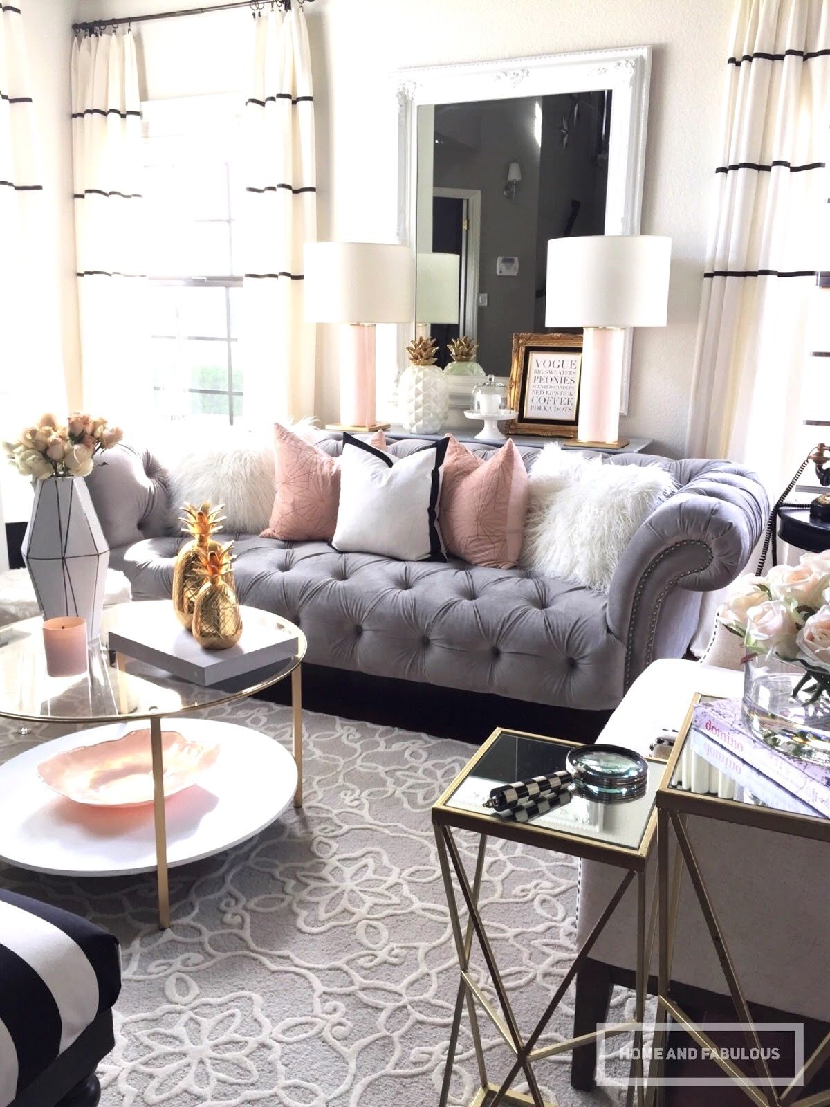 How One Couch Inspired A Living Room Transformation Homegoods Living Room Transformation Glam Living Room Living Room Grey