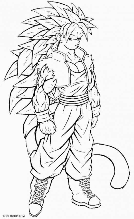 Super Saiyan Goku Coloring Pages Halaman Mewarnai Dragon Ball Z Goku