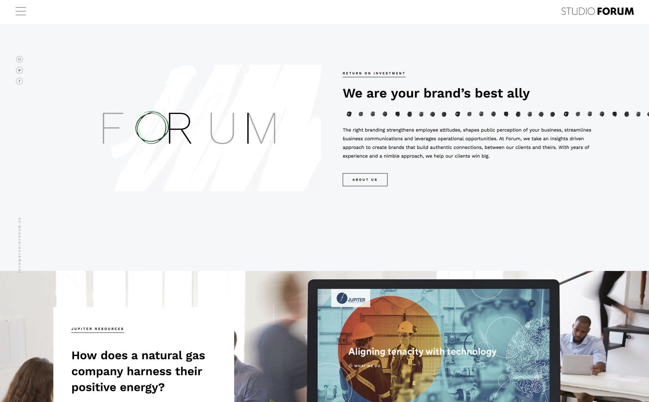 The Best Designs Web Design Inspiration Studio Forum Inc Web Design Web Design Inspiration Cool Designs