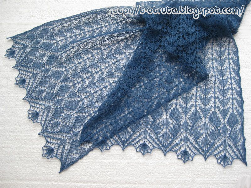lace knitted stolel patterns free easy | Benitoite is a rectangular ...