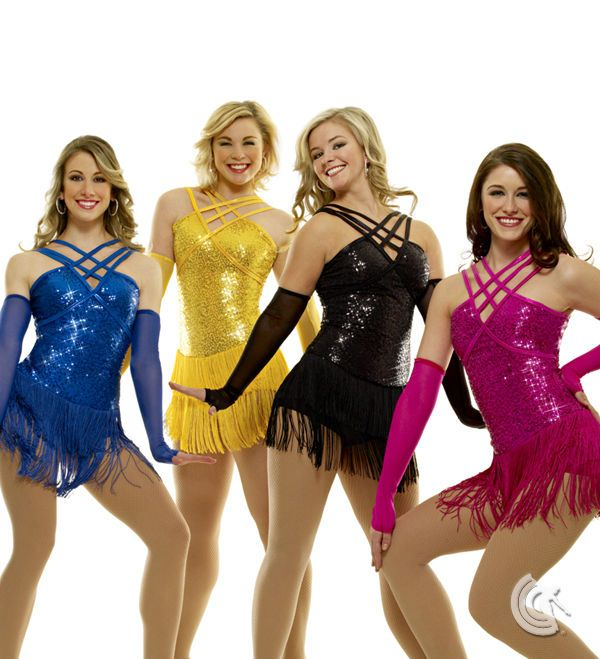 Curtain Call Costumes Yellow Sequined Flapper Dance Costume Adult