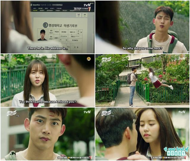 Bong Pal Hyun Ji First Kiss Let S Fight Ghost Episode 1 Review Korean Drama 2016 Bring It On Ghost Lets Fight Ghost Taecyeon Lets Fight Ghost