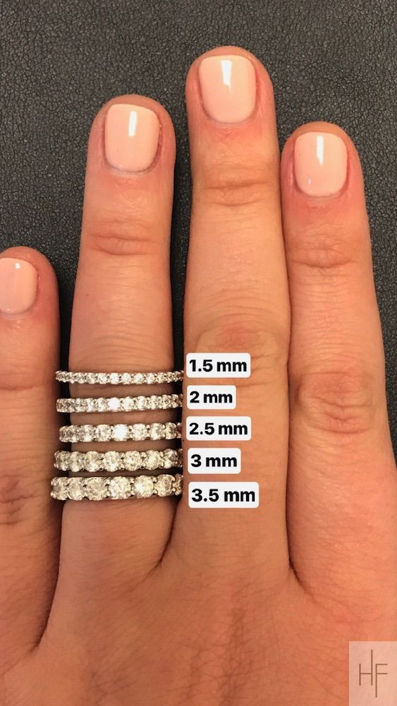 Wedding Ring Size Guide Eternity Band By Diamond Size Always Pay