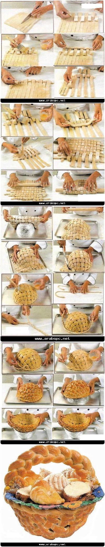 Cesto di pane al forno, completamente commestibile [P]