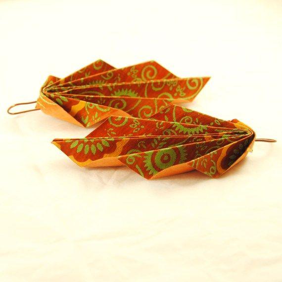 Pendientes de origami-2 / IMilanPiezasUnicas - Artesanio