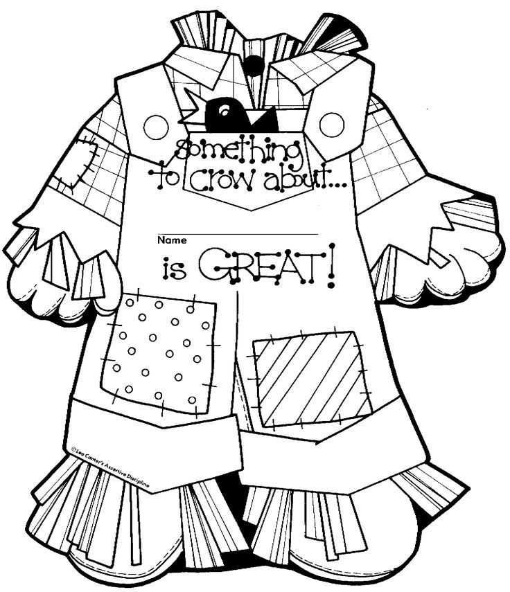 Coloring Girl Pages Scarecrow 2020 Halloween Scarecrow