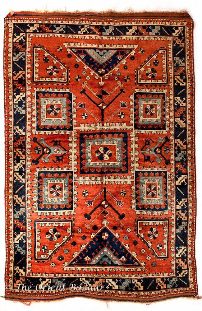 The Orient Bazaar Handmade Turkish Carpet Canle Vintage Area Rug
